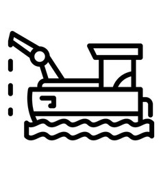 Floating fish farm icon outline style vector