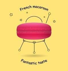 Funny logo with the classic French macaroon vector image