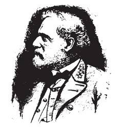 general robert e lee vintage vector image