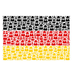 Germany flag collage of spy icons vector