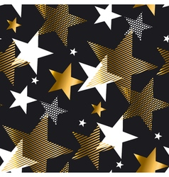 Gold star pattern vector
