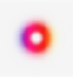 Halftone colorful torus for web or print vector