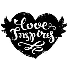 Hand drawn lettering poster vector image