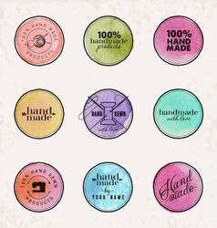 Hand Made Labels Badges and Design Elements vector