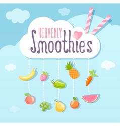 Heavenly smoothie logo concept vector image