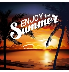 Hello Summer Beach Party Flyer vector
