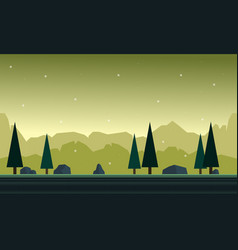 Hill with background for game background vector