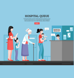 Hospital queue vector