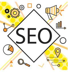 infographics background seo optimization seo vector image