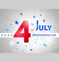 July 4th us independence day poster vector