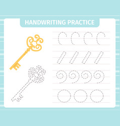kids handwriting practice game educational vector image