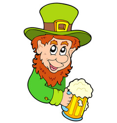 lurking leprechaun vector image