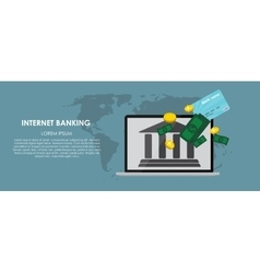Mobile Banking Flat computing vector