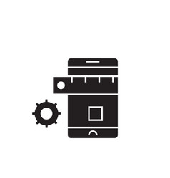 mobile development black concept icon vector image