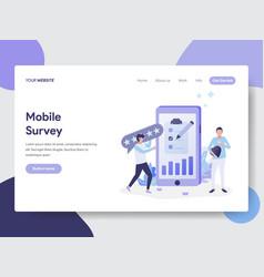 mobile survey concept vector image