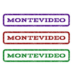 Montevideo watermark stamp vector