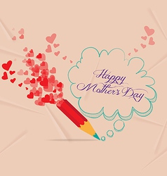 mothers day with pencil drawing bubble card vector image