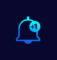 Notification counter icon for web vector