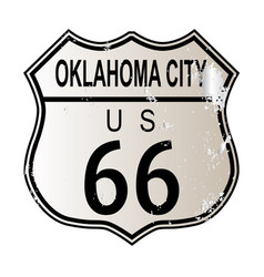 Oklahoma city route 66 sign vector