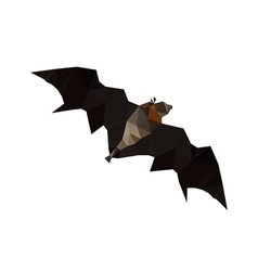 origami flying fruit bat vector image