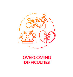Overcoming difficulties concept icon vector