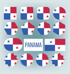 panama flag set official panama flag flat vector image