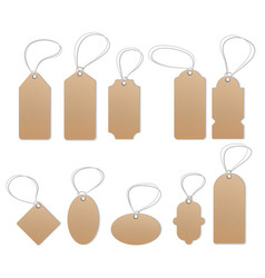 Price tags empty labels sale tags and labels vector