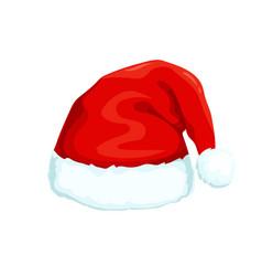 santa clause hat icon vector image