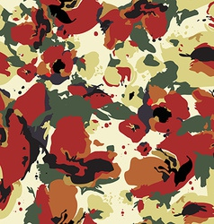 Seamless abstract floral pattern with poppy vector