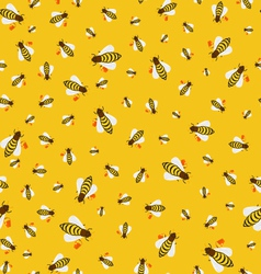 Seamless texture of bees vector image
