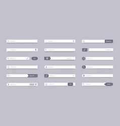 search bar address field interface bar ui vector image