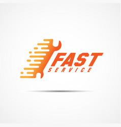 Service template logo vector