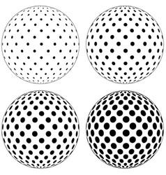 set 3d globe ball dots circles on surface vector image