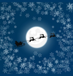 silhouette of santa in snow vector image
