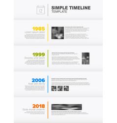 Simple vertical timeline template vector