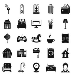small house for rest icons set simple style vector image