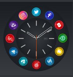 Social meida time vector