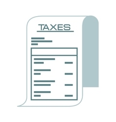 taxes paper receipt icon vector image