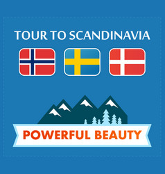 tour to scandinavia vector image