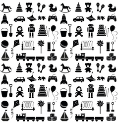 Toys icons Seamless pattern vector