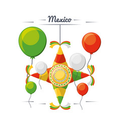 traditional mexico decoration for party vector image