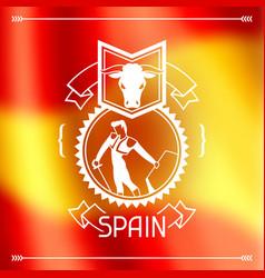Traditional spanish corrida spain background vector