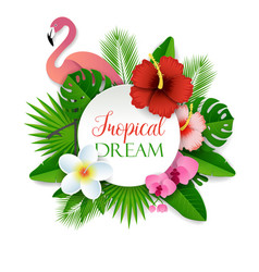 tropical dream paper cut vector image