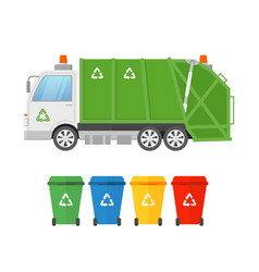urban sanitary vehicle vector image