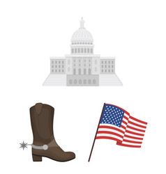 Usa country cartoon icons in set collection vector
