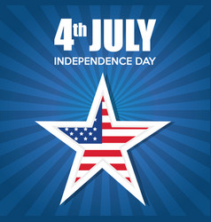 Usa independence day star vector