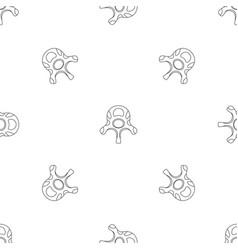 Vertebra disc pattern seamless vector