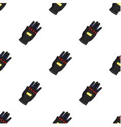 Virtual reality glove controller icon in cartoon vector