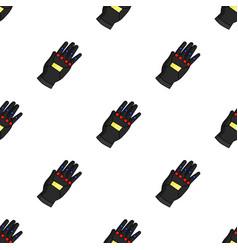 Virtual reality glove controller icon in cartoon vector