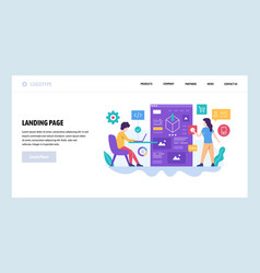 Web site design template software vector